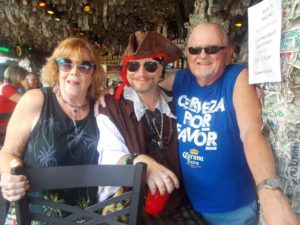 Dustin with Dave and Grace Walton at Willie T`s Key West, Florida