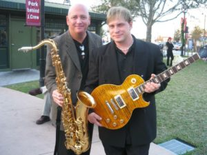 Scott Rademacher and Dustin on Tour with Al Green