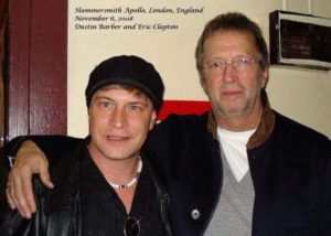 Dustin & Eric Clapton backstage Hammersmith Apollo Theatre in London, England